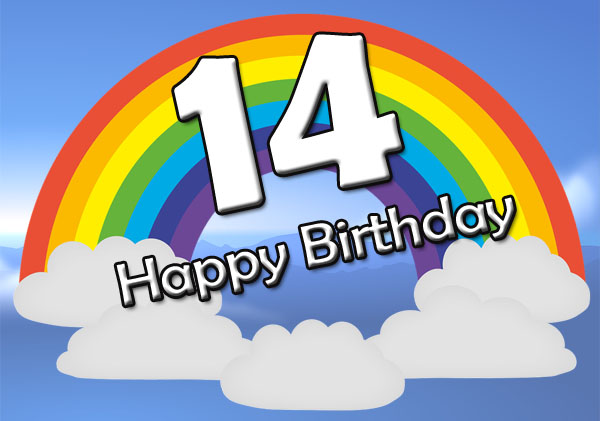 Regenbogen zum 14. Geburtstag
