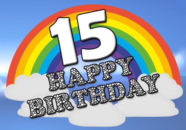 Regenbogen zum 15. Geburtstag