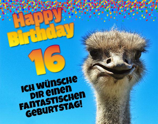 WhatsApp Gruß zum 16. Geburtstag