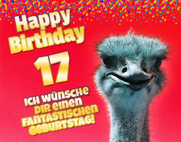 Tierischer Geburtstagsgruß für Siebzehnjährige