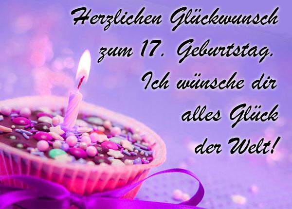 Viel Glück zum 17. Geburtstag