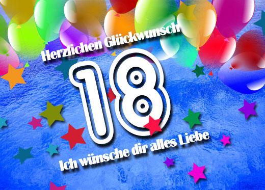 WhatsApp Bild zum 18. Geburtstag