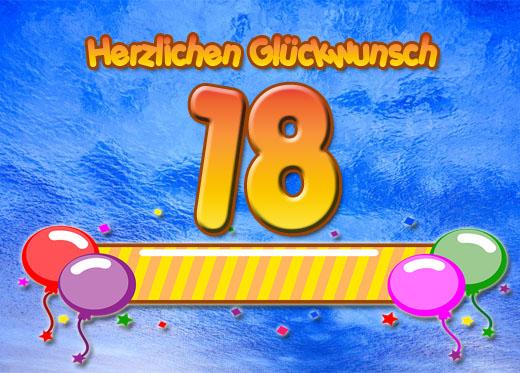 Gluckwunsche Zum 18 Geburtstag