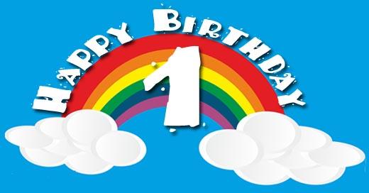 Regenbogen zum 1. Geburtstag