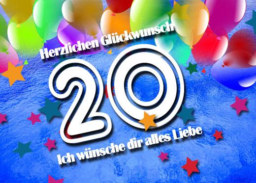 WhatsApp Gülckwünsche zum 20. Geburtstag