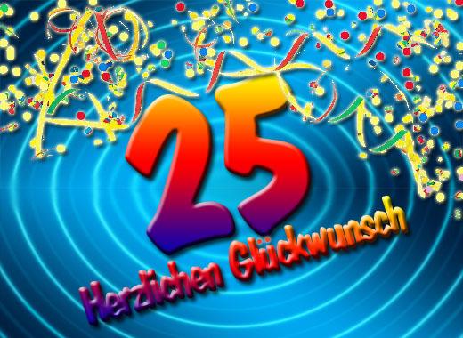 Viel Spaß zum 25. Geburtstag