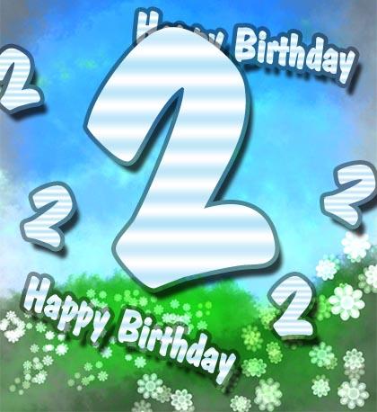 WhatsApp Bild zum 2. Geburtstag
