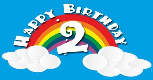Regenbogen zum 2. Geburtstag