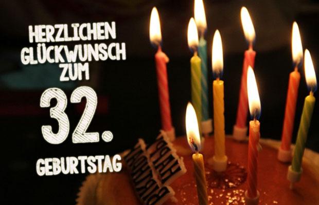 WhatsApp Glückwünsche zum 32. Geburtstag