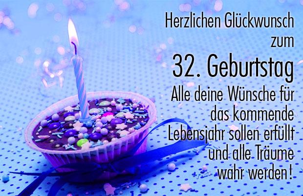 Torte zum 32. Geburtstag