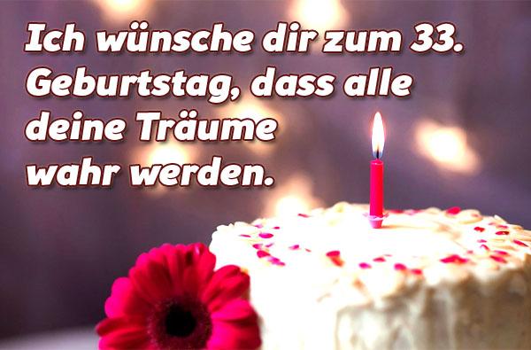 Alles Liebe zum 33. Geburtatag!