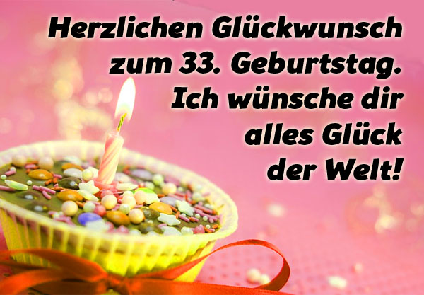 Kleine Torte zum 33. Geburtstag