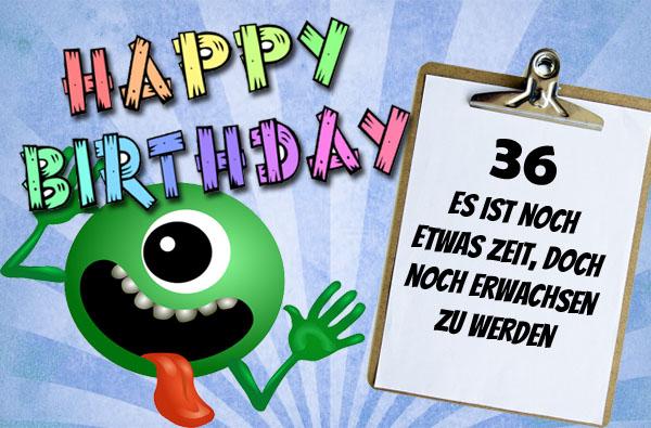 Glückwünsche Und Sprüche Zum 36 Geburtstag