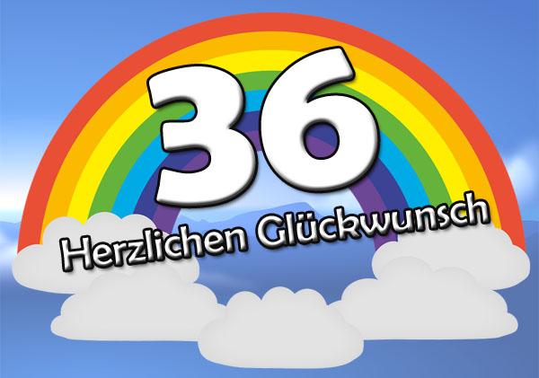 WhatsApp Bild zum 36. Geburtstag