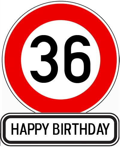 Lustiges Bild zum 36. Geburtstag