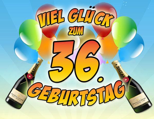 Sekt und Ballons zum 36. Geburtstag