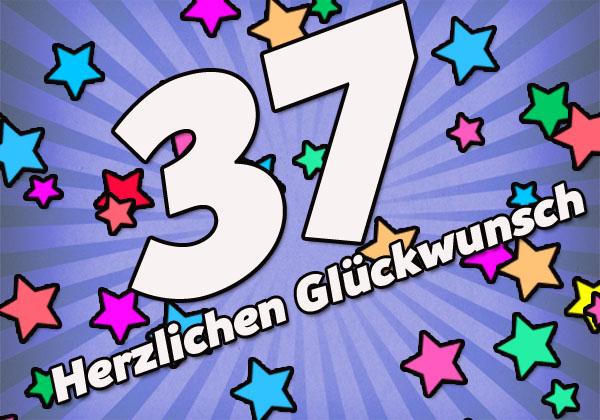 37. Geburtstag Bild für Männer