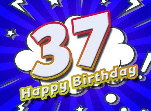 Happy Birthday zum 37. Geburtstag