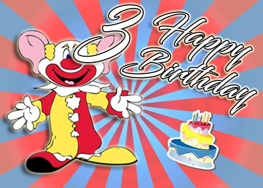 Clown zum 3. Geburtstag
