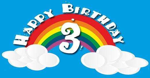 Regenbogen zum 3. Geburtstag