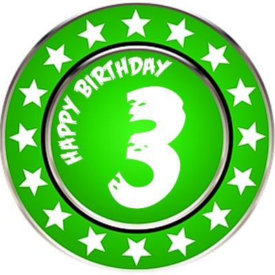 Ordern zum 3. Geburtstag