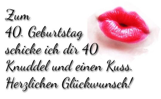 Küsschen zum 40. Geburtstag