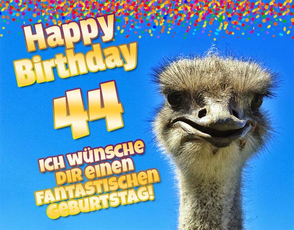 Tierische Glückwünsche zum 44. Geburtstag