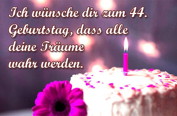 44. Geburtstag Bild für Frauen