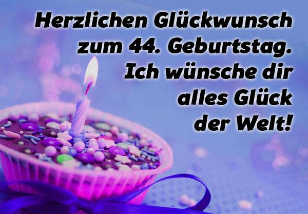 WhatsApp Bilder zum 44. Geburtstag