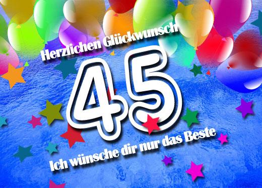 WhatsApp Glückwünsche zum 45. Geburtstag