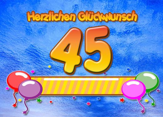 Süße Glückwünsche zum 45. Geburtstag