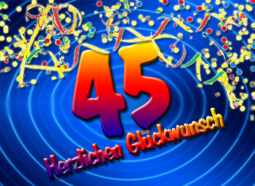 Party zum 45. Geburtstag