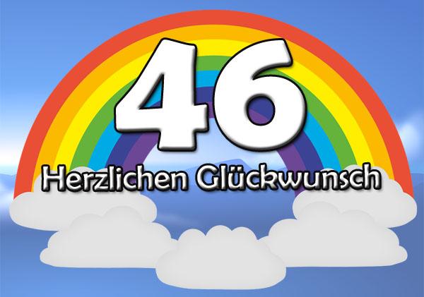 Glückwünsche zum 46. Geburtstag