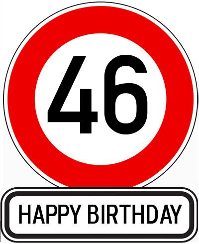 Verkehrsschild 46 Jahre