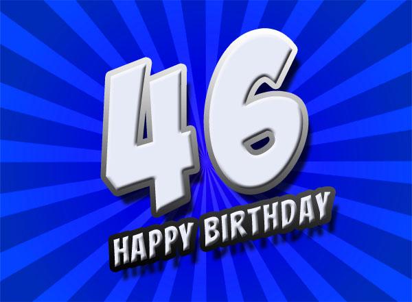 46. Geburtstag im Comic Stil