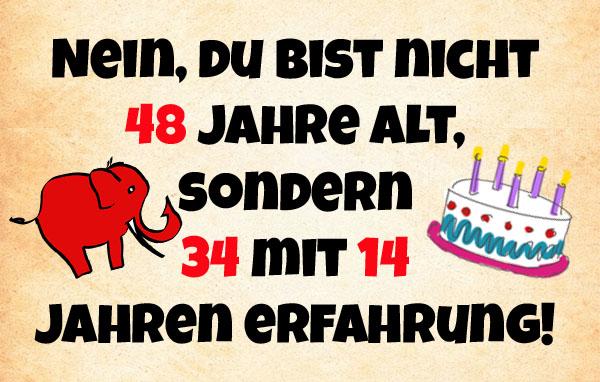 Lustiges Geburtstagsbild zum 48ten