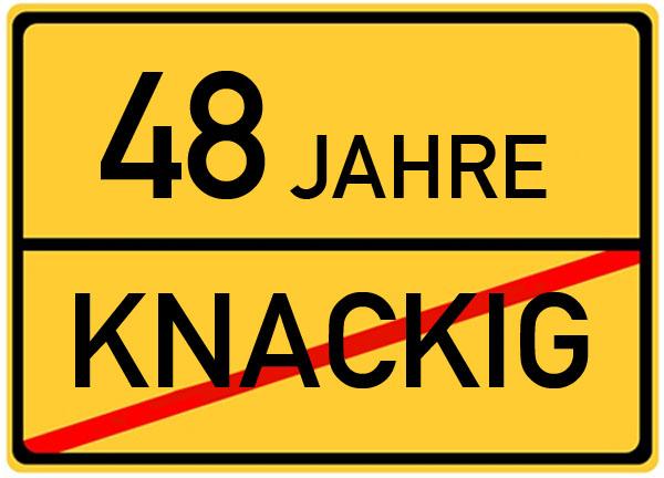 Verkehrsschild 48 Jahre