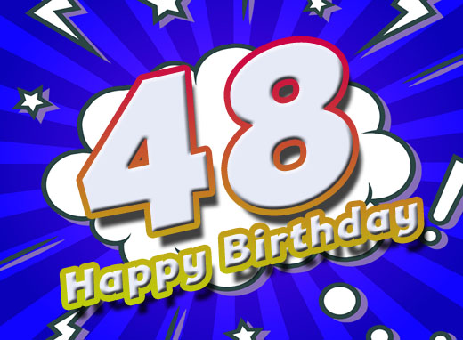 Bild zum 48. Geburtstag im Comic Stil