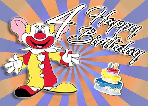 Lustiger Clown zum 4. Geburtstag
