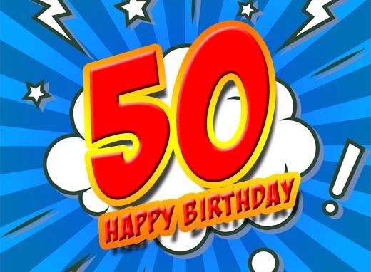 Cooles Bild zum 50. Geburtstag