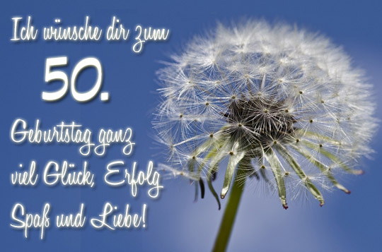 Herzliche Wünsche zum 50. Geburtstag