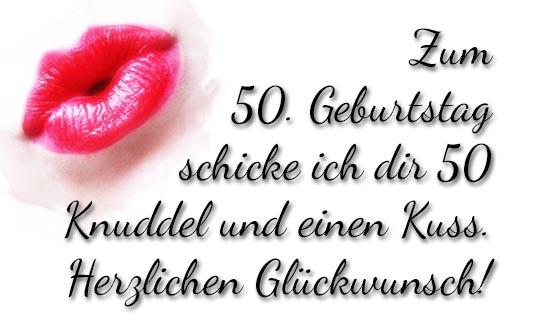 Kuss zum 50. Geburtstag