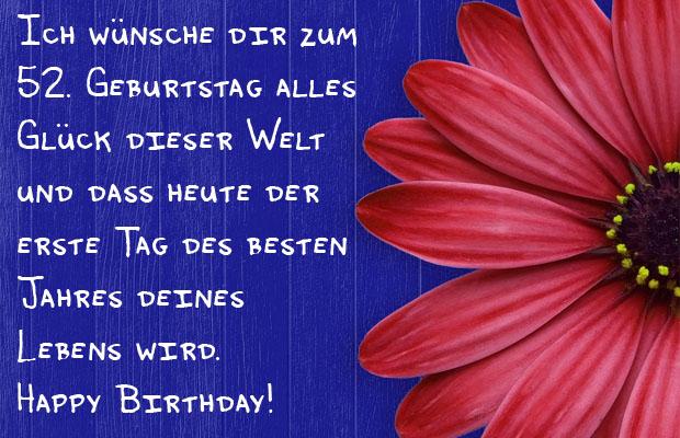 Facebook Bild zum 52. Geburtstag.