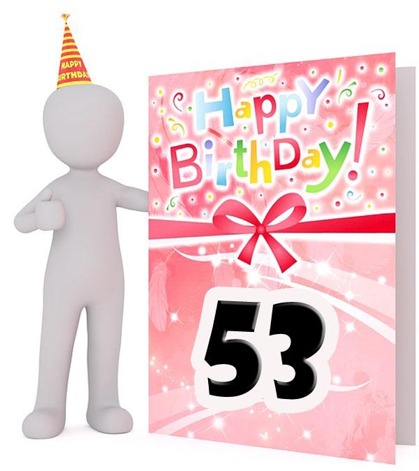 Karte zum 53. Geburtstag