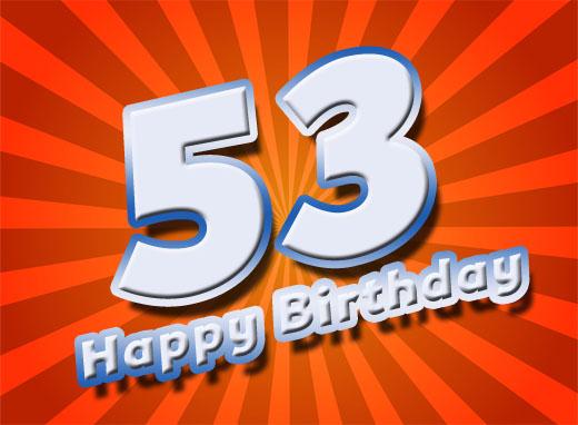 Facebook Bild zum 53. Geburtstag