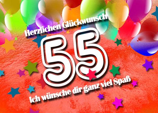WhatsApp Glückwunsch zum 55. Geburtstag