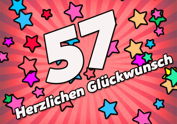 Herzliche Glückwünsche zum 57. Geburtstag