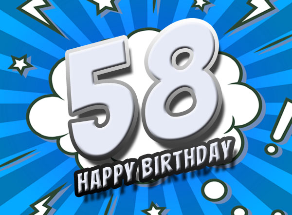Facebook Grüße zum 58. Geburtstag