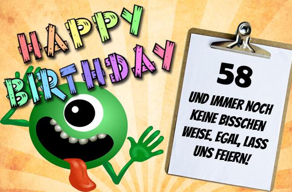 Monster zum 58. Geburtstag