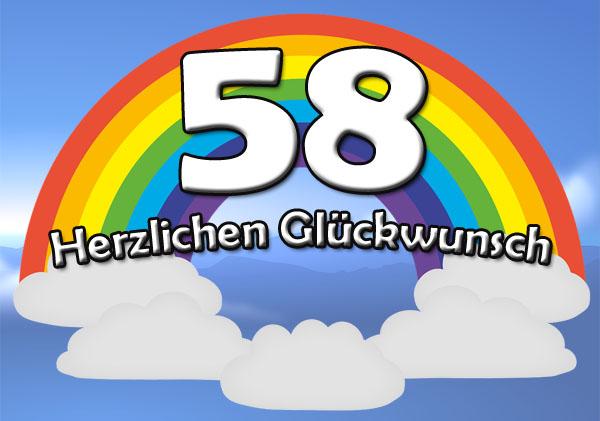 Regenbogen zum 58. Geburtstag